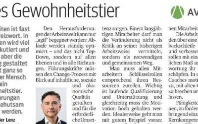 AGILE FÜHRUNG – KURIER-BEITRAG VOM 29.01.2020 – AVANSA
